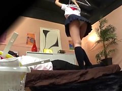 Japanese teen on voyeur cam
