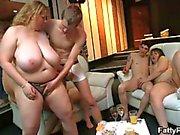 Two fatty ladies fucks hot young boys