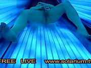 SolariumCam Hot Girl Masturbation in Public Voyeur Solarium