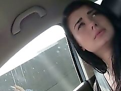 Hot Anna jumps in the car and has an amazing rack of tits