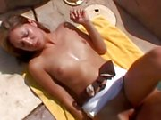 Petite amateur drilled by a big rod