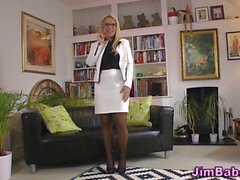 Stockings brit blows old
