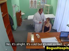Amateur euro creampied after pussy checkup