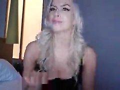 Sexy blonde masturbate live webcam for free titties