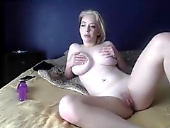 Huge Tits On Blonde Webcam Girl