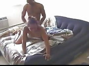 Horny black couple