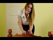 Blonde blowjob amateur in stockings