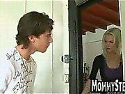 Big cock sucked by skinny blonde MILF
