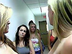Amateur naked girls in lesbian sorority games
