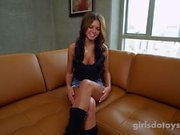 Sexy Miss Teen Colorado in her first solo porn video