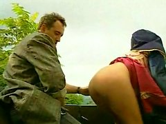 Guys in Uniform Outdoor Anal Sex