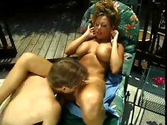 Busty Hardcore FFM Anal Outdoor