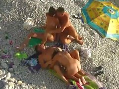 beach fun with two couples 720p