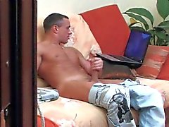 Stepmom caught when he masturbate