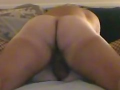 BF's low hangers smacking a hot wife's pussy while hubby watches