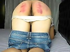 My spanking lessons resulting in extreme red ass