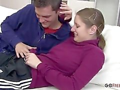 Young Amateur Russian Couple Caught Fucking On Tape