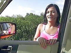 Teen Capri rewards the driver with sex