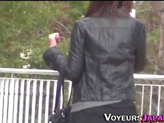 Asian teens spied outdoor