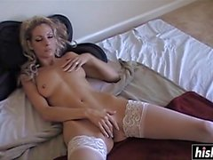 solo cutie rubs her wet pussy segment