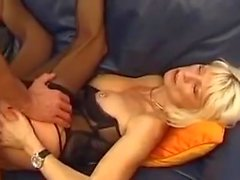 French mature eva delage with a young guy
