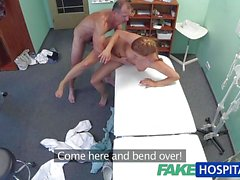 Redhead babe gets a cock on prescription