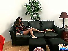 Sexy brunette babysitter Whitney Stevens with natural big