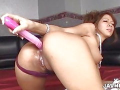 Ema Kisaki fucked by two guys in dirty threesome