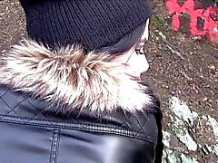Beautiful amateur banged pov in public