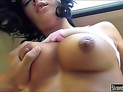 Busty Nadia Capri thanks guy for a ride