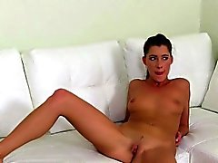 Auditioning eurobabe fingers and licks chick agent clit