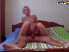 Hot Blonde Teen Beach Blowjob