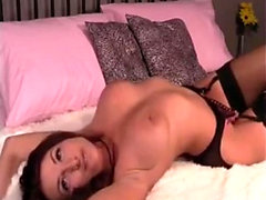 Sexy babe Eufrat enjoys a solo masturbation on the couch