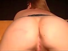 Amateur Orgasms Hard on Ass Whip