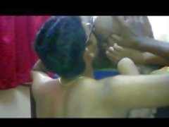 Indian Tamil housewife getting pussy and asshole licked