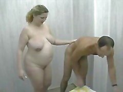 Fucking Fat Amateur with shower