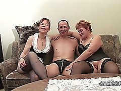 German old Grandpa and Grandpa in privat Amateur Threesome