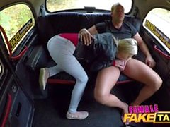 Female Fake Taxi Hot cab fuck as wet pussy licked