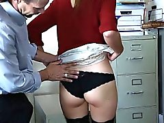 Enticing virgin office girl Shyla Ryder gets anally fucked