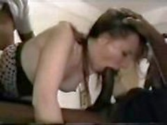 Insatiable brunette gets her mouth filled with cock