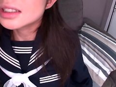 Alluring Japanese AV model in POV hardcore blowjob