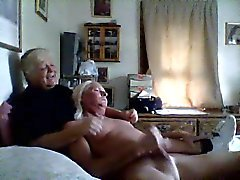 Sissy Husband Masturbates in Wife's arms