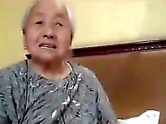 Chubby Japanese Granny Being Fucked
