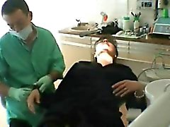 French amateur abused wife and fucks the dentist while her h