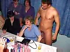 Male strippers dancing for hot amateurs