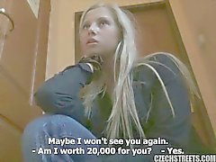 Hot czech blonde fucking for money