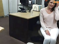 Pawn guy fucks his customers sexy wife inside his office