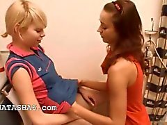 Natasha and Alice love loving girls