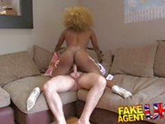 Ebony amateur rides this hard cock