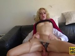 Dominated blonde gets her pussy hammered